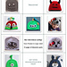 Booklet of Crochet Character Hats pattern
