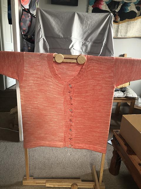 Machine knitted cardigan