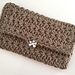 Star stitch clutch pattern