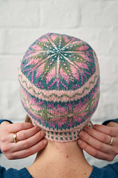 Learn to catch in floats while knitting this stunning hat by Janette Budge.