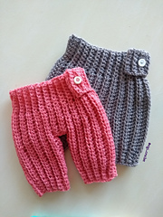 mini babucha crochet