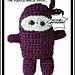 Purple Stitch Project Ninja (crochet) pattern
