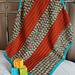 Broad-Stripe Unisex Baby Blanket pattern