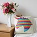 Rainbow unicorn cushion pattern