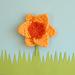 Marie Curie Daffodil brooch pattern