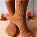 Little Pine Cone Socks pattern