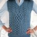 #10 Patchwork Cable Vest pattern