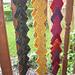 Schal mit Zacken pattern