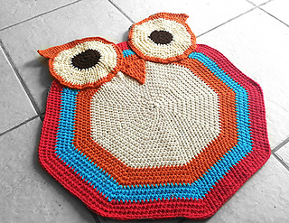 Ravelry Crochet Owl Rug Pattern By