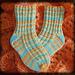 Waffle Stitch Toe Up Socks pattern