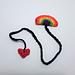 Pride rainbow bookmark pattern
