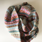 Fair Isle Cowl in Soft Colors,