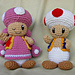 Toad and Toadette pattern
