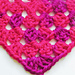 Half Granny Square triangle shawl / Dreieckstuch pattern