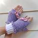 Daisy Duck Fingerless Gloves pattern