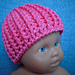 Ribbed Crochet Preemie Hat pattern