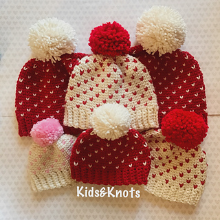 Mini Heart Knit Look by Kelsey Daughtry