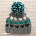 Big Heart Knit Look Hat pattern