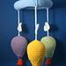 Air balloon crib/pram mobile pattern