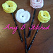 Bobby Pin Crochet Flower pattern