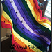 Meandering Paw Prints over the Rainbow Bridge pattern
