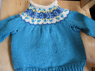 Elizabeth Zimmerman inspired Children's Yoke Sweater