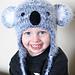 Koala Earflap Hat pattern