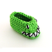Lizard Monster Baby Booties pattern