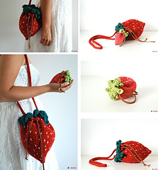 Strawberry Bag And Purse Pattern By Ahooka Migurumi
