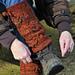 Acorn and oak leaf legwarmers pattern