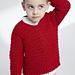 Child's Crochet V-Neck Pullover pattern
