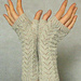 Fishtail wristwarmers pattern