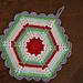 Vintage Crochet Climbing Trellis Hexagon Potholder pattern