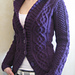 Blackberry Cabled Cardigan pattern
