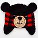 Beary the Buffalo Plaid Teddy Bear Hat pattern