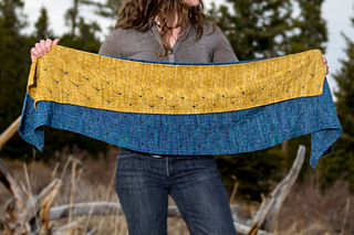 Comparison of One and Two-Skein Shawl Sizes