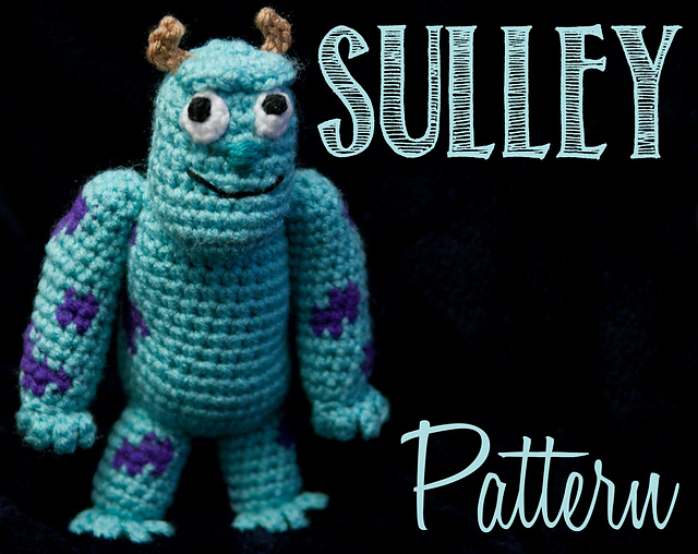 Sully monster by Mirtha Amigurumis by MirthaAmigurumis.deviantart.com on  @deviantART | Disney crochet patterns, Crochet disney, Monsters inc crochet | 508x640