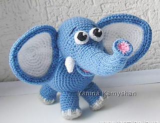Ravelry: Elly the Elephant pattern by Amy L. Andell | 245x320