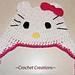 Hello Kitty Earflap child hat pattern