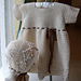 Lace Party Dress or Christening Gown with Bonnet pattern