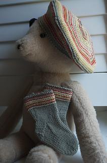 Final shot of beret and socks