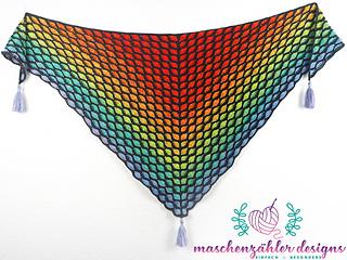 Version 2: symmetrical shawl