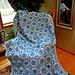 Blue Delft Afghan pattern