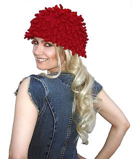 Fun Fringed Fur Chapeau - Knitting Pattern