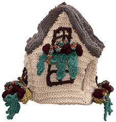 English Cottage Tea Cozy (back) - Knitting Pattern