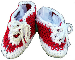 Baby Sneakers - Crochet Pattern