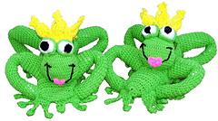 Frog Kisser Slippers - Crochet Pattern