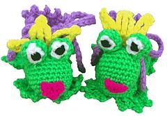 Frog Kisser Slipeprs Baby Booties - Crochet Pattern