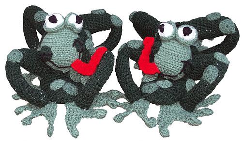 Horney Toad Slippers - Crochet Pattern