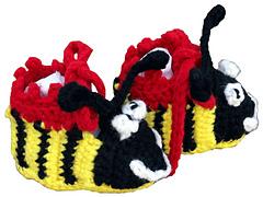 Bumble Bee Baby Booties - Crochet Pattern